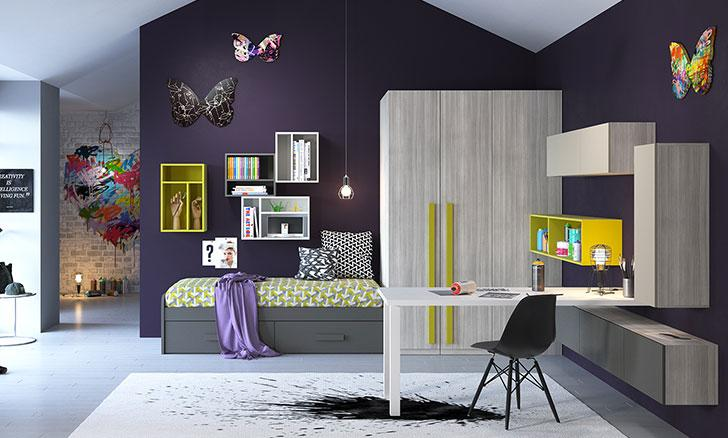 Composizioni di camerette per ragazze e ragazzi imamobili for Ikea camerette ragazze