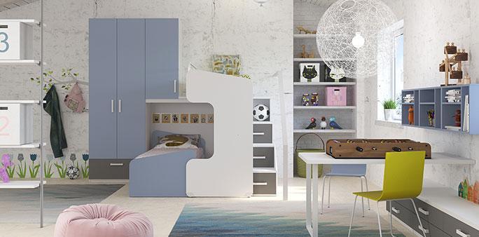 Camerette per ragazzi ImaMobili: Sistema componibile di camerette